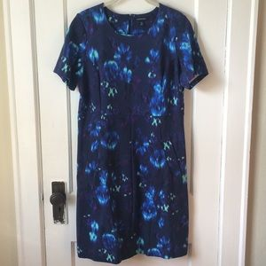 Like New Lands End Fitted Sheath Dress, 14